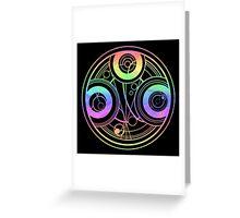Rainbow Gallifreyan Doctor Who Greeting Card