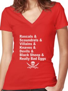 A Pirate's Life For Me Women's Fitted V-Neck T-Shirt