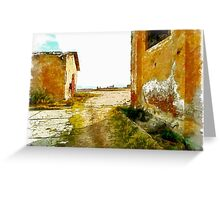 Island Caprera: military archeology Greeting Card