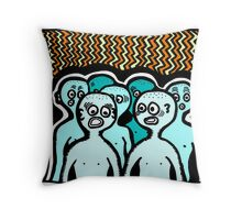 Where Are We? COLORIZED Throw Pillow