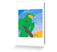 DrawSomething Chief 'Halo' Greeting Card