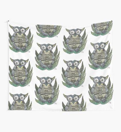 Geometric owl Wall Tapestry