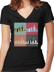 Warhol New York Women's Fitted V-Neck T-Shirt