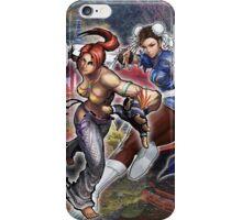 Cristie y Chun Li Street-Fighter Case iPhone Case/Skin