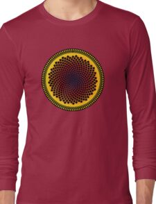 Sunflower Fibonacci Fractal Spiral Long Sleeve T-Shirt
