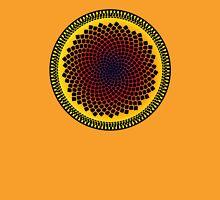 Sunflower Fibonacci Fractal Spiral Unisex T-Shirt
