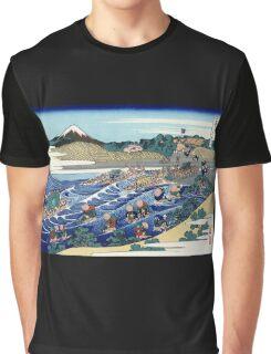 'Fuji From Kanaya on Tokaido' by Katsushika Hokusai (Reproduction) Graphic T-Shirt