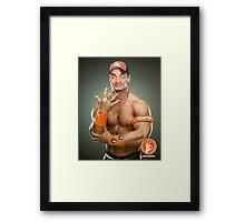 John Bena w/ Background [John Cena Parody] Framed Print
