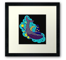 Space wizard whale Framed Print