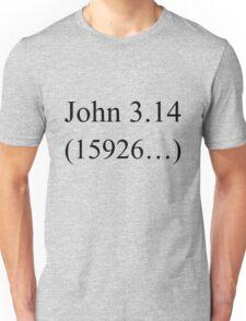 John 3:16 parody, Pi design. Unisex T-Shirt