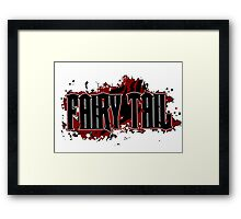 Fairy Tail Title (Maroon) Framed Print