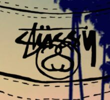 tumblr stussy bucket hat Sticker