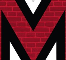 Miami Brick 'M' Sticker
