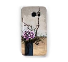 Hydrangea in Vase on Wooden Floor Watercolor Samsung Galaxy Case/Skin