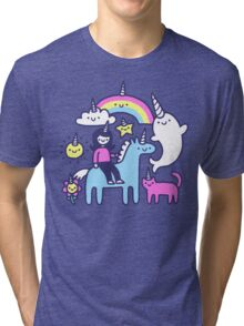 Unicorns Everywhere! Tri-blend T-Shirt