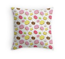 Dreamy Donuts Throw Pillow