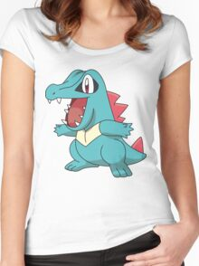 Totodile illustration Women's Fitted Scoop T-Shirt
