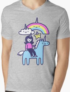 Unicorn Buds Mens V-Neck T-Shirt