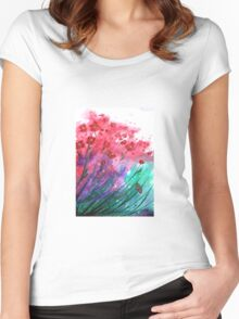 Flowers - Dancing Poppies Women's Fitted Scoop T-Shirt