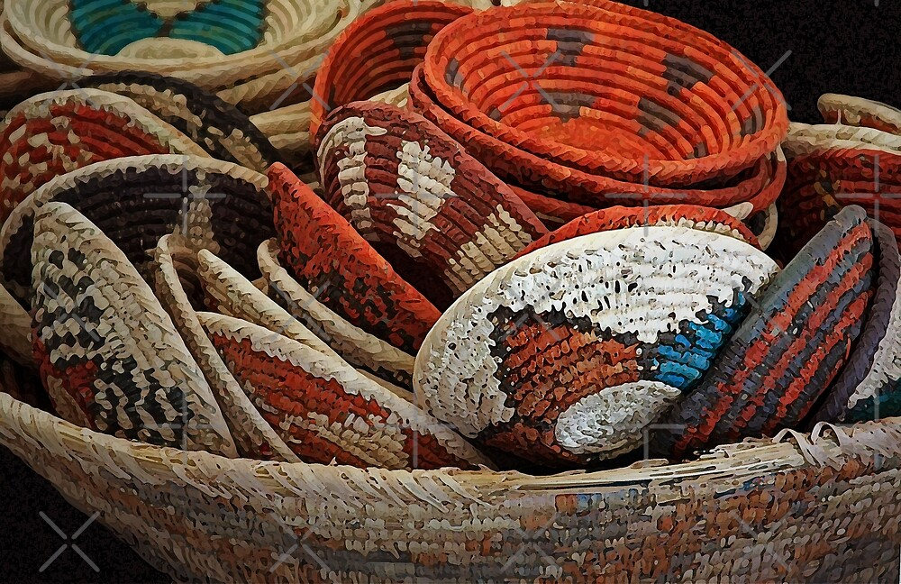 A Bowl of Woven Baskets by CarolM