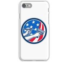 American Drywall Repair Service Flag Circle Retro iPhone Case/Skin