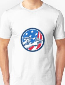 American Drywall Repair Service Flag Circle Retro Unisex T-Shirt
