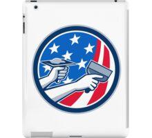 American Drywall Repair Service Flag Circle Retro iPad Case/Skin