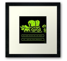 0046 - Off the Wagon Framed Print