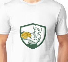 Pizza Chef Holding Pizza Shield Retro Unisex T-Shirt