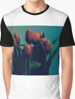 Orange Tulips Graphic T-Shirt
