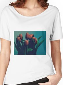 Orange Tulips Women's Relaxed Fit T-Shirt