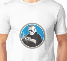 Tig Welder Welding Circle Retro Unisex T-Shirt