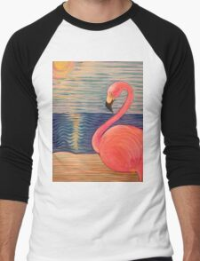 Flamingo Sunset Men's Baseball ¾ T-Shirt
