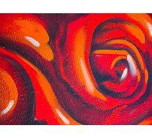 Graffiti Rose Photographic Print