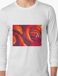 Graffiti Rose Long Sleeve T-Shirt