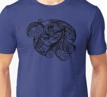 Sleepy Eyed Face with Swirly Hair Unisex T-Shirt