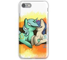 Lyra and Bonbon on a bench iPhone Case/Skin