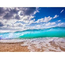 Blue Surf Photographic Print