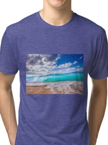 Blue Surf Tri-blend T-Shirt