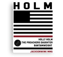 Holly Holm Fight Camp Canvas Print