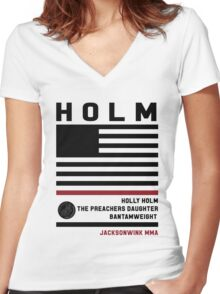 Holly Holm Fight Camp Women's Fitted V-Neck T-Shirt