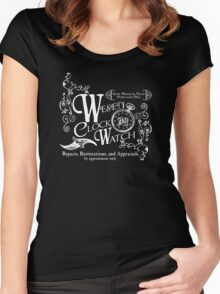 Wesen Clock and Watch Repair Women's Fitted Scoop T-Shirt
