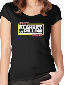 Greendale Fort Wars: Blanket vs Pillow Women's Fitted Scoop T-Shirt