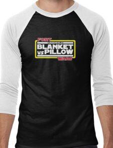 Greendale Fort Wars: Blanket vs Pillow Men's Baseball ¾ T-Shirt