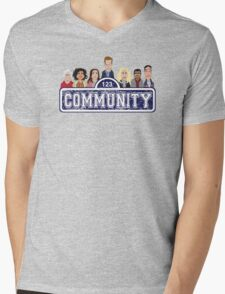 Community Street Mens V-Neck T-Shirt