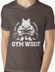 Not the average GYM WOOF Mens V-Neck T-Shirt