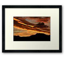 Ribbon cloud Framed Print