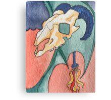 The Devil Tarot Card Metal Print