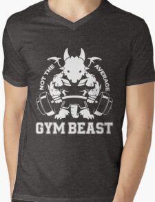 Not the average GYM BEAST Mens V-Neck T-Shirt