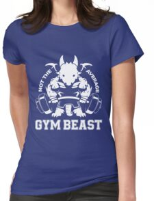 Not the average GYM BEAST Womens Fitted T-Shirt